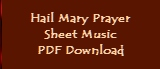 Hail Mary Prayer - Sheet Music Download