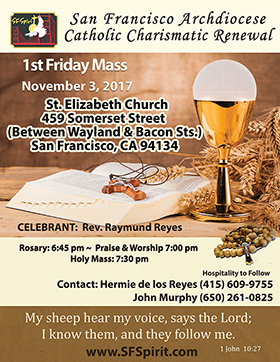 First Friday Mass November 2017
