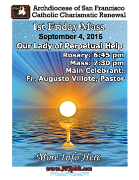 First Friday Mass September 2015