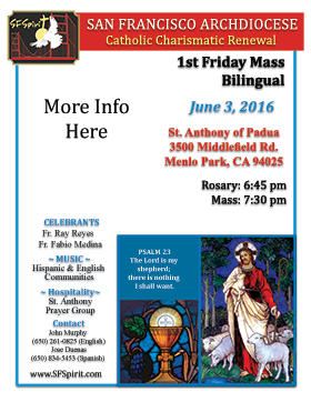First Friday Mass June 2016