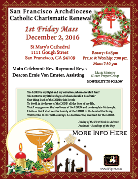 First Friday Mass December 2016
